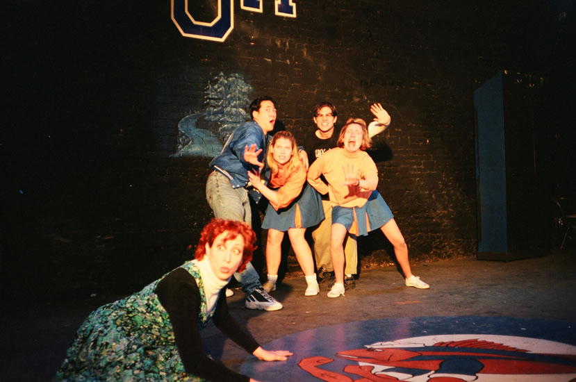 BAY ORCHARD HIGH - Joanne Borts, Paul Juhn, Robyn Weiss, Yuri Lowenthal and Caitlin Miller<br>Directed by Anne Kauffman