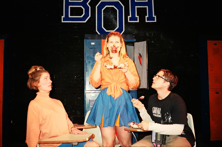 BAY ORCHARD HIGH - Caitlin Miller, Robyn Weiss and Yuri Lowenthal<br>Directed by Anne Kauffman