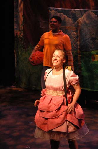 DAISY IN DISGUISE - Norman Payne as Oscar and Angie Perez as Daisy<br>Costumes by Elisabeth Vastola and Set by David Geinosky