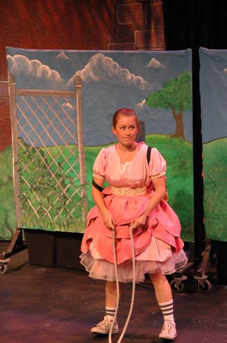 DAISY IN DISGUISE - Angie Perez as Daisy<br>Costumes by Elisabeth Vastola and Set by David Geinosky