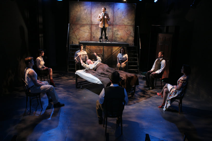 JUMPING BLIND - The Company<br>Set by Michael Hotopp, Lighting by Graham Posner - photo by Carlos Gustavo Monroy