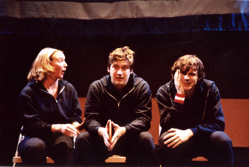 PING PONG DIPLOMACY - Kim Donovan as Jamie, Jesse Hooker as Young Nick, and Jerzy Gwiazdowski as Colin
